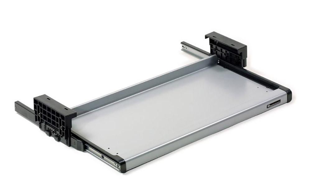 S09R. Soporte de teclado metálico instalable bajo la mesa