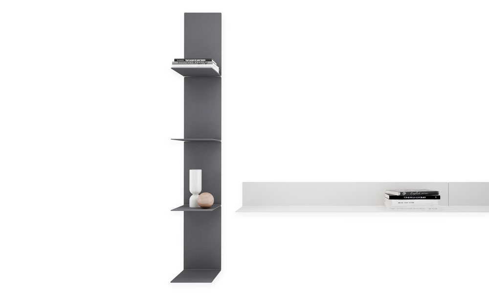 Baldas modular shelves of linear aesthetics in vertical and horizontal