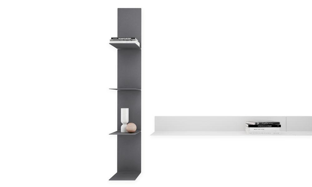 Baldas modular shelves of linear aesthetics in vertical and horizontal