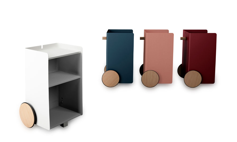 Ben, versatile, compact auxiliary furniture, with easy mobility