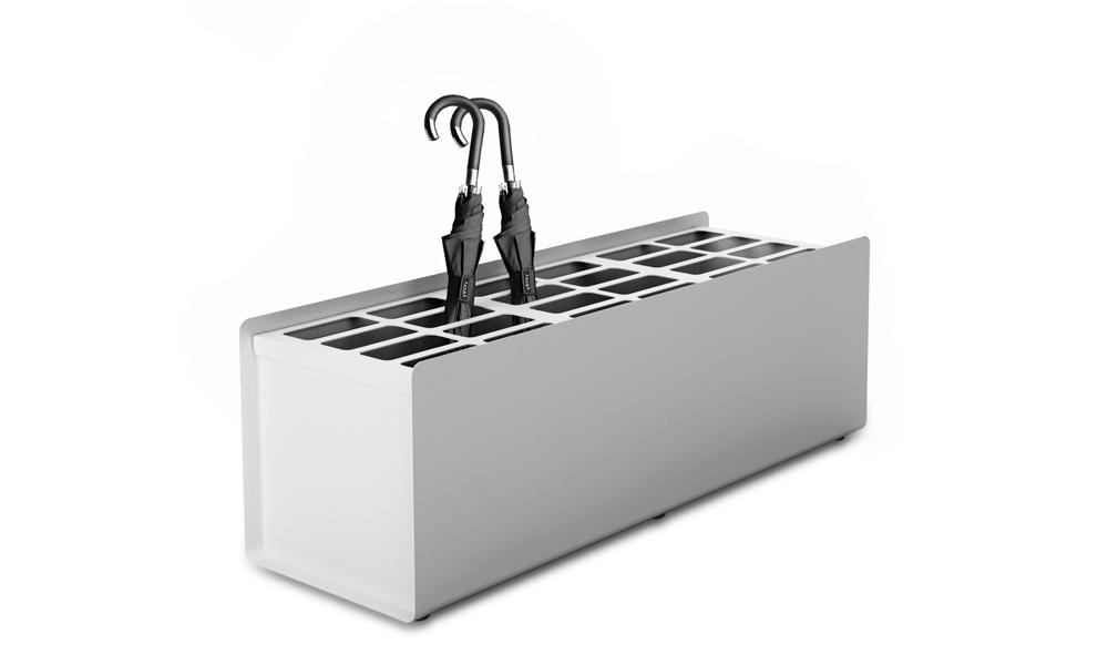 Crepe Umbrella Stand. Paragüeros fabricados en plancha de aluminio