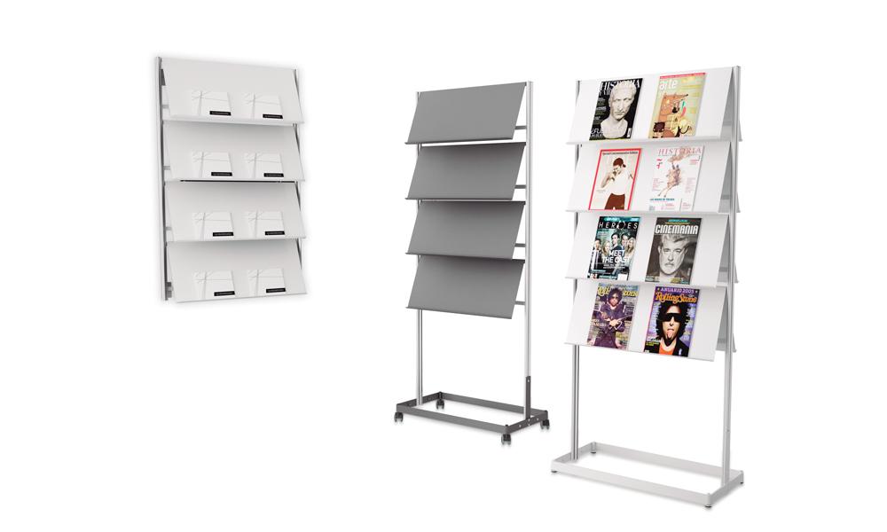 Flap. Expositor vertical para revistas, periódicos, catálogos,...