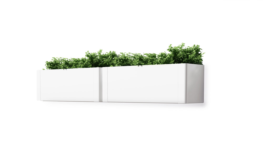 Green Light Wall. El modelo de jardineras rectangulares