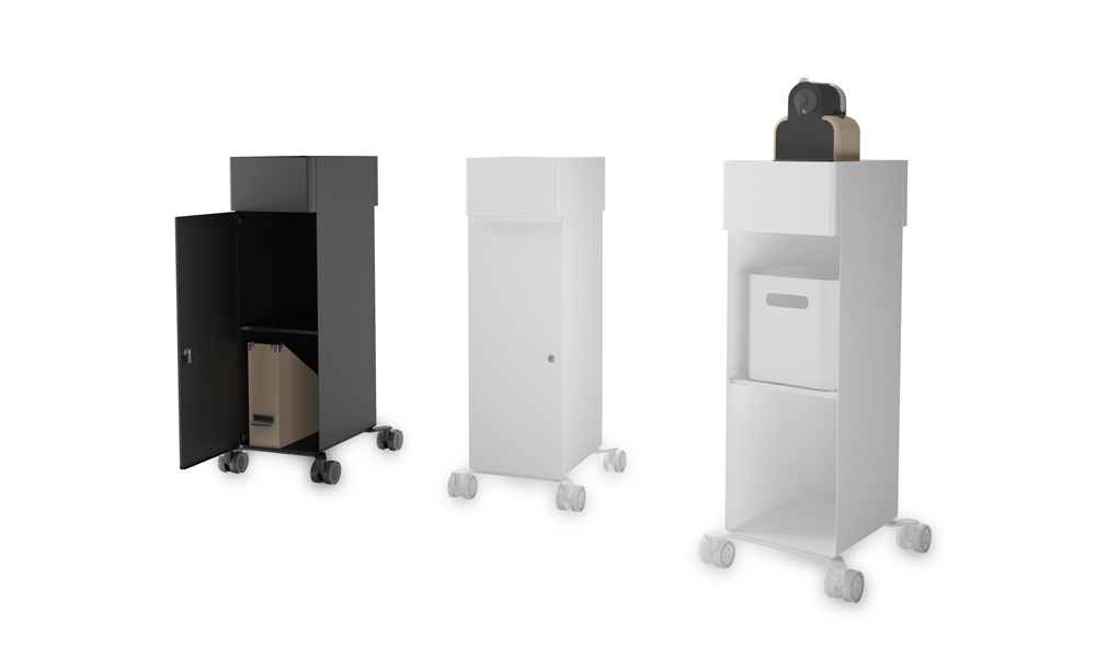 Hold Daily. Auxiliary furniture specific for workspaces