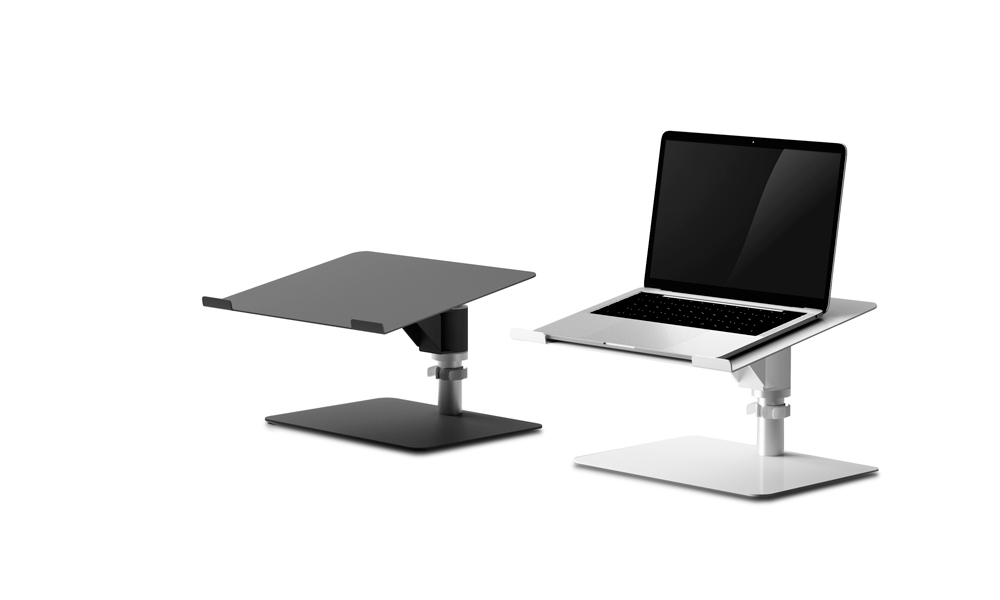 Support. This laptop stand allows you to adopt an ergonomically posture
