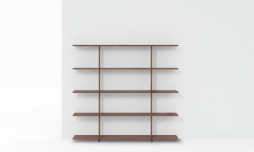 Wing wall. La colección Wing es un sistema de estanterías modulares.