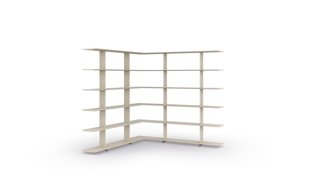 1600 Corner Shelves. Sistema de estanterías modulares.