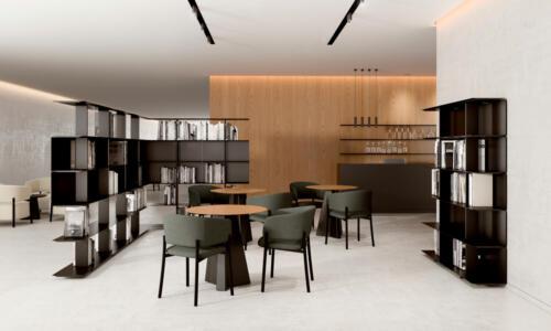 La colección Wing es un sistema de estanterías modulares muy versátil