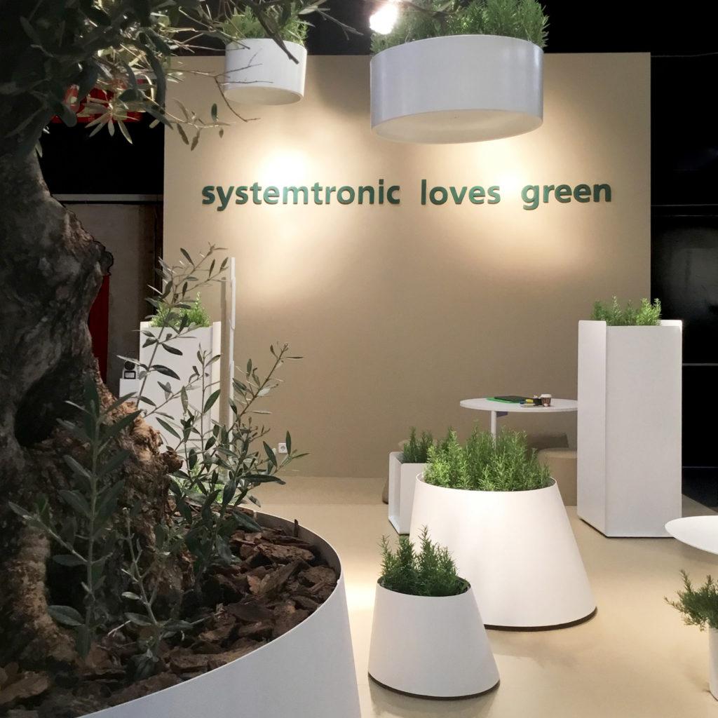 Systemtronic en la feria del Hábitat. Systemtronic loves green.