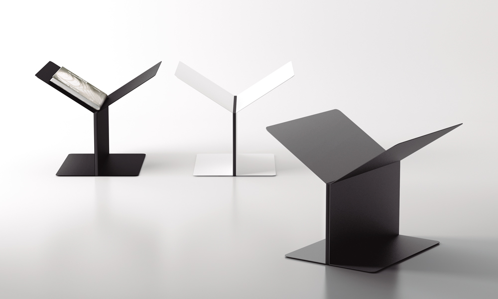 Mott. Revistero inspirado en formas arquitectónicas
