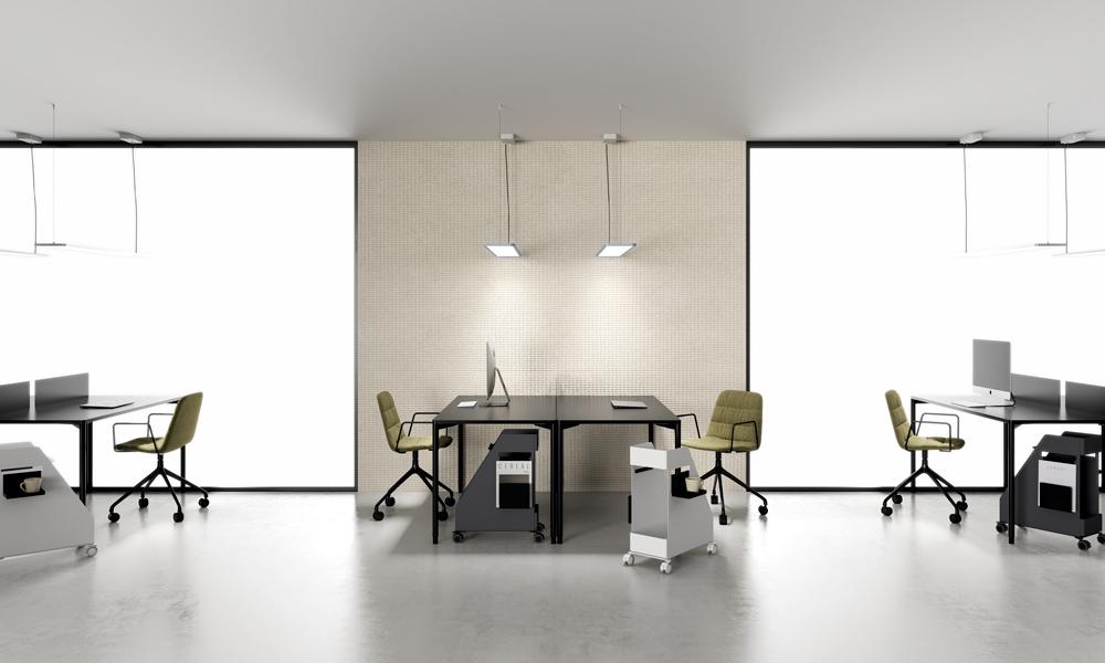 Foork. El diseño de estas mesas permite combinar colores.